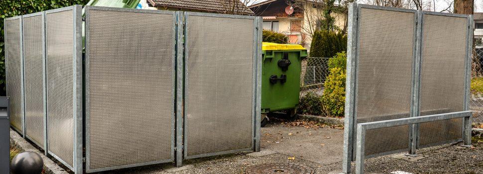 Sichtschutz Recyclingstation